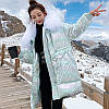 Жіночий модний пуховик, з коміром, блискуче пальто 3кол