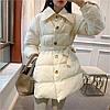 Зимний пуховик женский под пояс, модная куртка 3 цв
