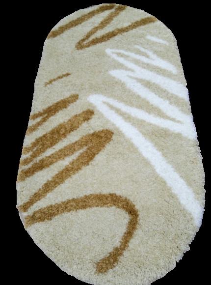 Ковер Shaggy 791 бежевый овал  размер 100х200 см