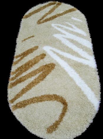 Ковер Shaggy 791 бежевый овал  размер 100х200 см, фото 2