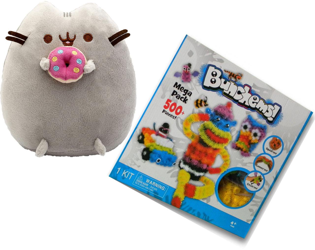 Мягкая игрушка котик с пончиком в лапках Pusheen cat + Подарок (vol-747)