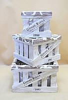 Ящики декоративные с чехлом КЯ-3 (3 ящика, квадратные)