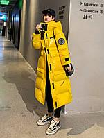 Модное длинное пальто женское, длинный пуховик больших размеров 5 расцветок, фото 1