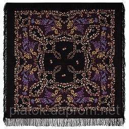 Рябина 352-19, павлопосадский платок шерстяной  с шерстяной бахромой
