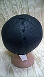 Кепка восьмиклинка мужская из плащёвки чёрная в клетку 56 раз, фото 5
