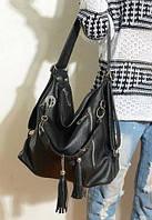 Стильная модная сумка-рюкзак,фабричная,черная
