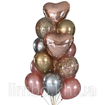 Шарики ко дню рождения в розовом цвете, фото 2