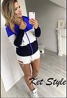 Женская спортивная кофта из джерси на молнии, фото 1