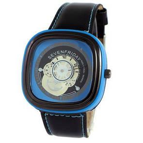 Sevenfriday Leather Sky-Blue-Black