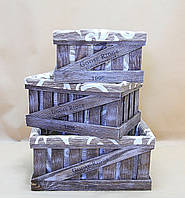 Ящики декоративные с чехлом КЯ-4 (3 ящика, прямоугольные)