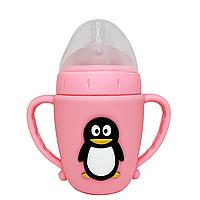 Бутылочка Пингвин (розовый)