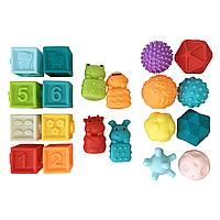 Набор кубики+игрушки+мячи, фото 1