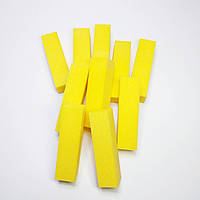 Бафы для ногтей 10шт желтые
