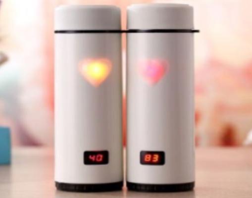 """Термос-Термокружка """"Heart Sensing Cup LED"""" стальной 360 мл, фото 2"""