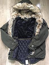 Куртки-парки зимние на мальчика оптом, Nature, 10/11-16/17 рр, фото 2