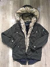 Куртки-парки зимние на мальчика оптом, Nature, 10/11-16/17 рр, фото 3