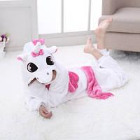 Пижама Кигуруми детская единорог розовые крылья