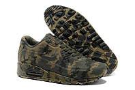 Кроссовки замшевые женские Nike Air Max 90 VT Tweed Сamouflage Brown Grey