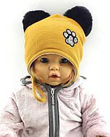 Оптом шапка детская 46 48 50 52 размер ангоровая шапки теплые головные уборы детские опт, фото 1
