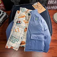 Хлопковая куртка,женская короткая свободная двусторонняя куртка на хлопковой подкладке, утепленная