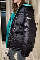 Пухова стьобана жіноча куртка зимова стьобана куртка вільна 4 кол