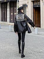 Кожаная куртка женская 2020 весна и осень новый локомотив красивый свободная вышитая заклепка тяжелая промышленность PU куртка европейский станционный, фото 1