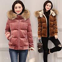 стьобана куртка жіноча коротка товста тепла 3кол