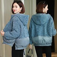 Жіноче зимове пальто, коротка жіноча куртка хутряна 2 кольори