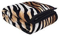 """Велюровый плед-покрывало тигровой расцветки """"Tiger"""" 140x200 см. ОПТ"""