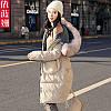 Хлопковая стеганая куртка женская зимняя одежда средней длины 2 цвета