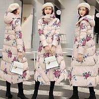 Длинная стеганая куртка в этническом стиле в стиле ретро, женская зимняя одежда 2019 года, новая куртка с капюшоном в гонконгском стиле с принтом, фото 1