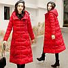 Пуховая хлопковая куртка женская средней длины, зимняя новинка 2019 года, хлопковая стеганая куртка в стиле ретро с этнической вышивкой, тонкая и
