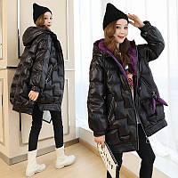Пуховая стеганая куртка женская средней длины 2019 зима новая корейская версия ins хлебная куртка свободная модная повседневная стеганая куртка прилив, фото 1