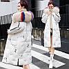 Хлопковая стеганая куртка женская средней длины зима 2019 корейская версия свободной моды с большим меховым воротником пуховая куртка была тонкой