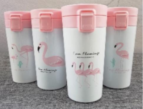 "Термос STARBUCKS ""Фламинго"" стальной 400 мл, фото 2"