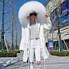 Жіноча парку супер великий хутро єнота, зимова куртка 4 кол
