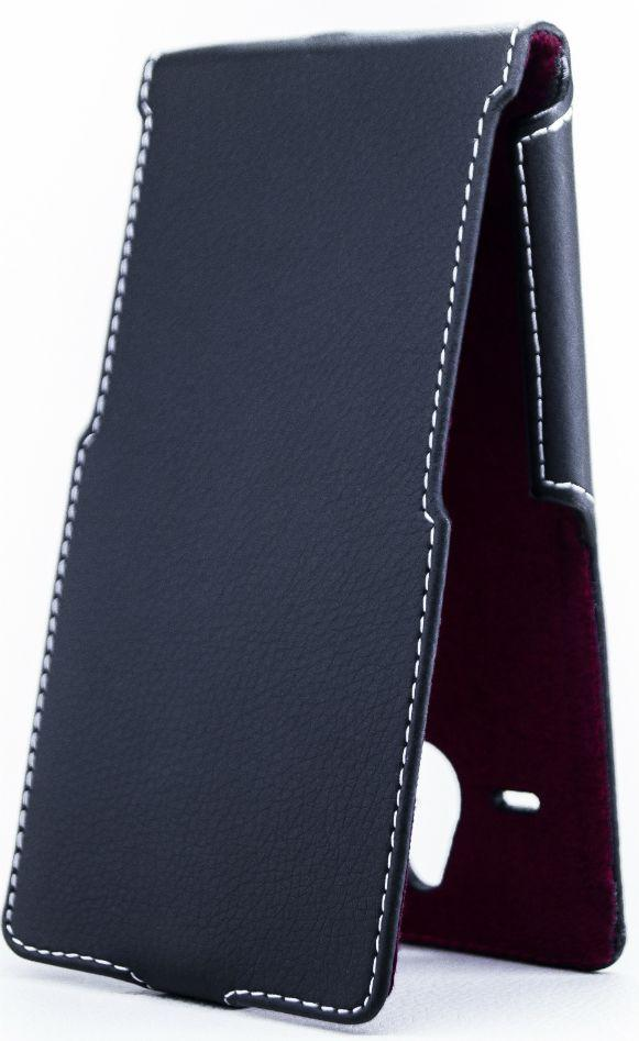 Чехол Status Side Flip Series Microsoft Lumia 640 XL Black Matte