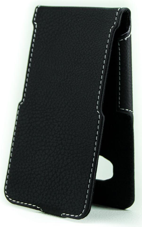 Чехол Status Side Flip Series Samsung J120 Galaxy J1 2016 Black Matte