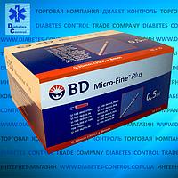 Шприцы инсулиновые BD Micro Fine Plus U-100 0,5 мл (США, Нью-Джерси) 100 шт.