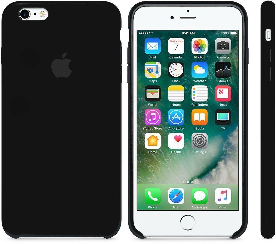 Чехол Apple Silicone Case iPhone 6 Plus, iPhone 6S Plus Black_High Copy
