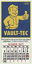 Постер Gaya Fallout Poster - Vault-Tec Calendar 410 х 210 мм