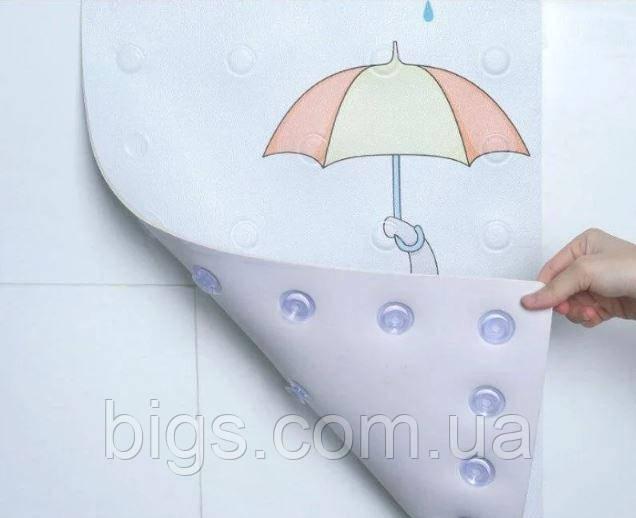 Дитячий антиковзаючий килимок для ванної з присосками