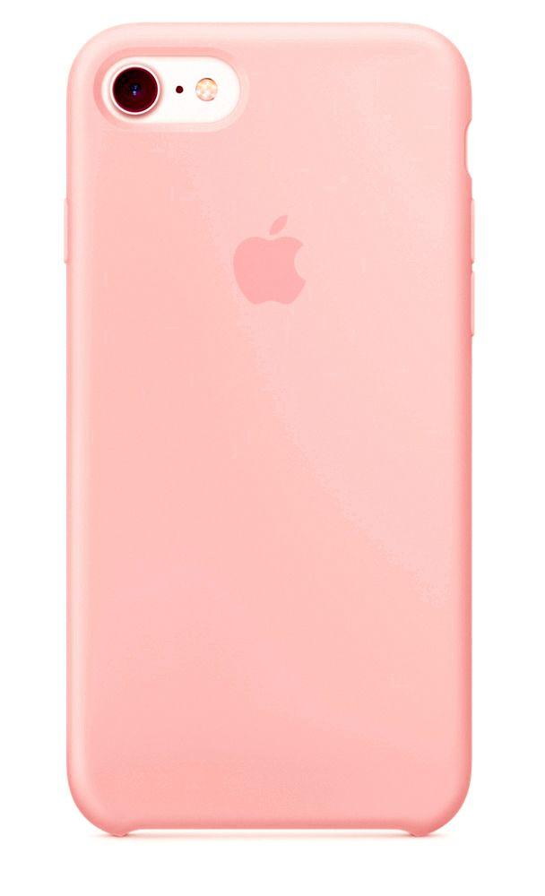 Чехол Apple Silicone Case iPhone 5, iPhone 5S, iPhone SE Pink_High Copy