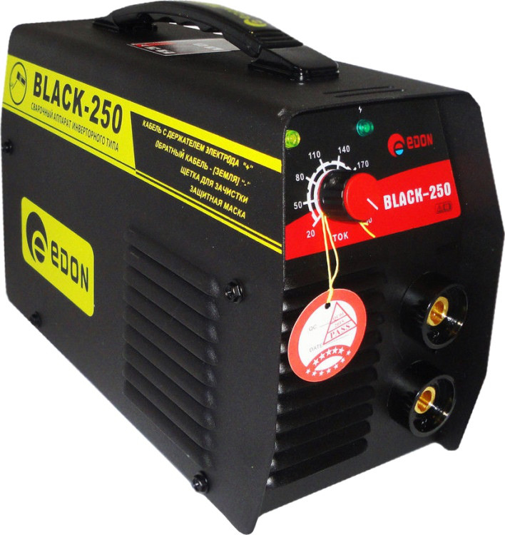 Инвертор сварочный EDON Black-250 (гарантия 24 месяца, электрод 1.6-5, кабеля 2 метра)