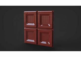 """Гіпсові панелі 3D """"Сhocolate Premium"""" Saddlebrown 500*500*25 мм"""