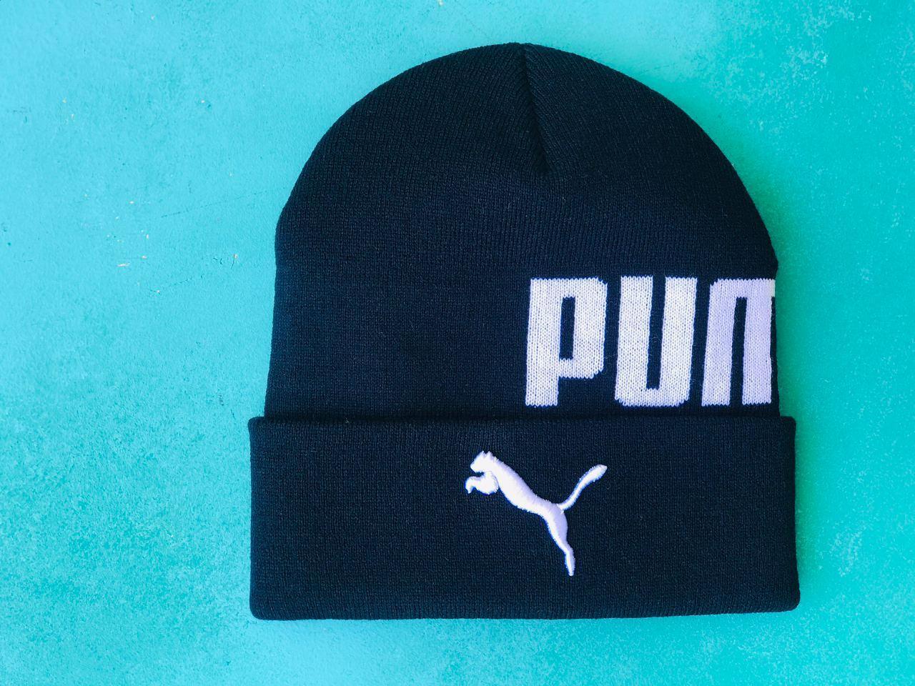Шапка Puma / шапка пума/ шапка женская/шапка мужская/темно-синий
