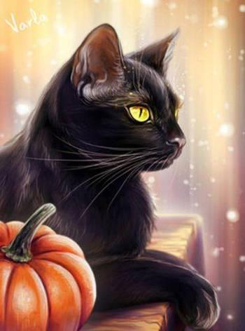 """Картина по номерам EKTL2011_O 30*40см """"Кошка"""" OPP (холст на раме с краск.кисти), фото 2"""