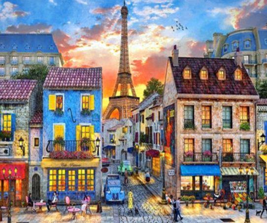 """Картина за номерами EKTL2004_O 30*40см """"Старовинний Париж"""" OPP (полотно на рамі з фарбами.кисті)"""
