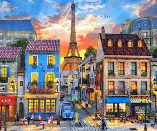 """Картина за номерами EKTL2004_O 30*40см """"Старовинний Париж"""" OPP (полотно на рамі з фарбами.кисті), фото 2"""