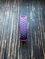 "Ремешок Nike на Xiaomi Mi Band 5 - ""Фиолетово-бирюзовый"""